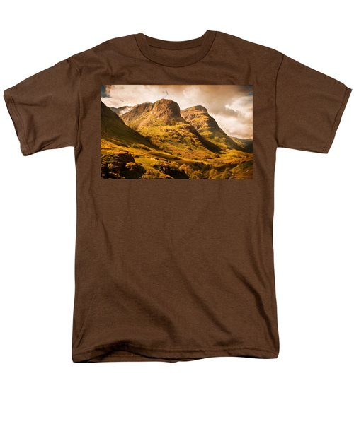 Three Sisters. Glencoe. Scotland Men's T-Shirt  (Regular Fit) by Jenny Rainbow
