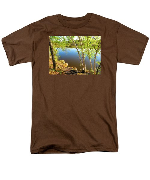 Through The Birch Men's T-Shirt  (Regular Fit) by MTBobbins Photography