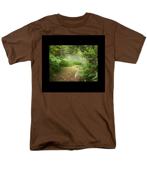 Through The Forest At Water's Edge Men's T-Shirt  (Regular Fit) by Absinthe Art By Michelle LeAnn Scott
