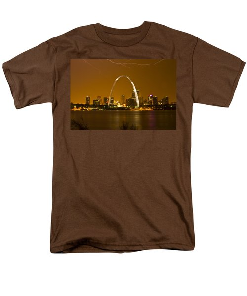 Thunderstorm Over The City Men's T-Shirt  (Regular Fit) by Garry McMichael