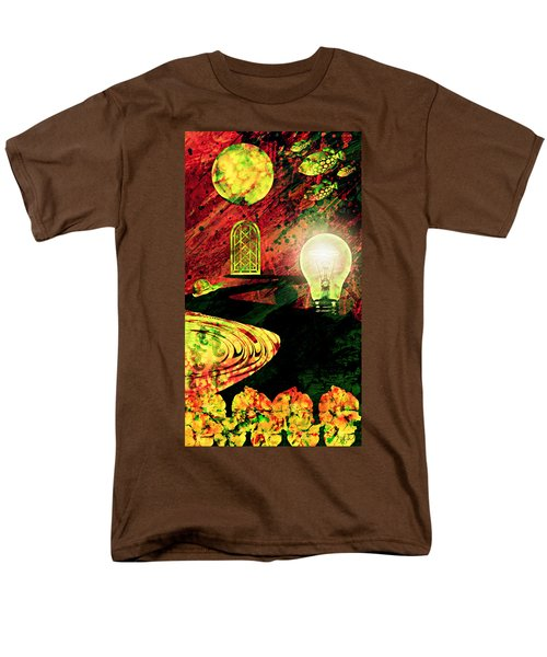 Men's T-Shirt  (Regular Fit) featuring the mixed media To The Light by Ally  White
