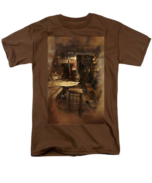 Tobacco Cello Men's T-Shirt  (Regular Fit) by Evie Carrier