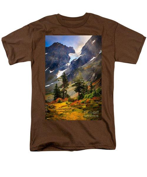 Top Of Cascade Pass Men's T-Shirt  (Regular Fit) by Inge Johnsson
