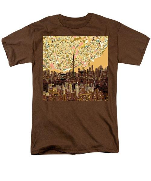 Toronto Skyline Abstract 9 Men's T-Shirt  (Regular Fit) by Bekim Art