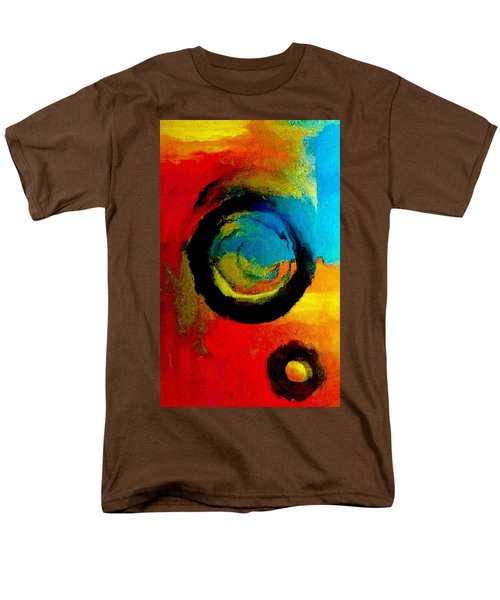 Men's T-Shirt  (Regular Fit) featuring the painting Touring A Parallel Universe by Lisa Kaiser