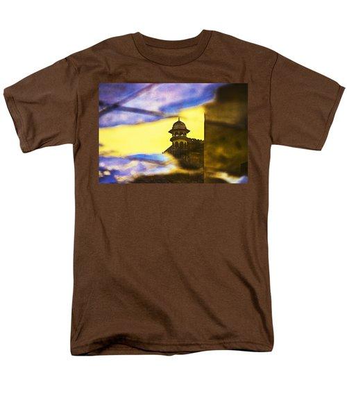 Tower Reflection Men's T-Shirt  (Regular Fit) by Prakash Ghai