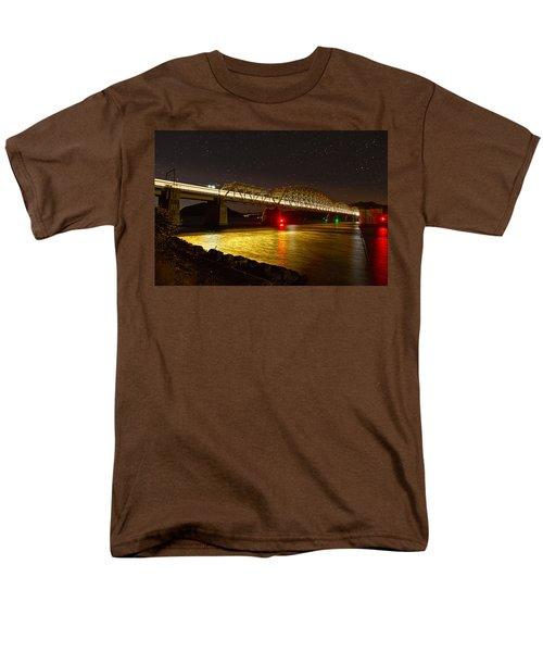 Train Lights In The Night Men's T-Shirt  (Regular Fit) by Miroslava Jurcik