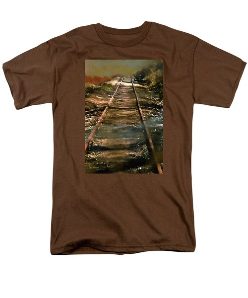 Train Track To Hell Men's T-Shirt  (Regular Fit) by RC deWinter