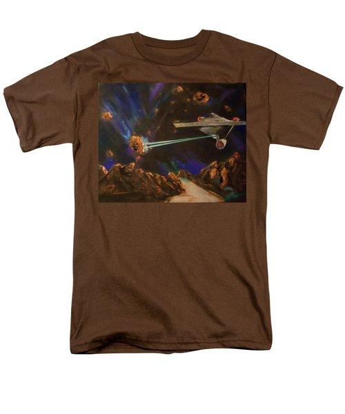 Men's T-Shirt  (Regular Fit) featuring the mixed media Trek Adventure by Peter Suhocke