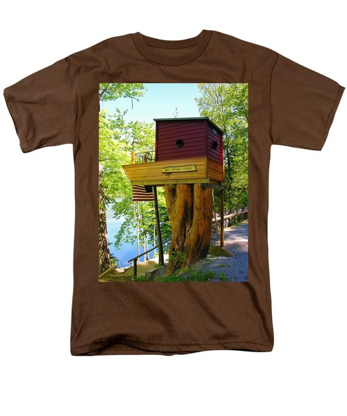 Men's T-Shirt  (Regular Fit) featuring the photograph Tree House Boat by Sherman Perry