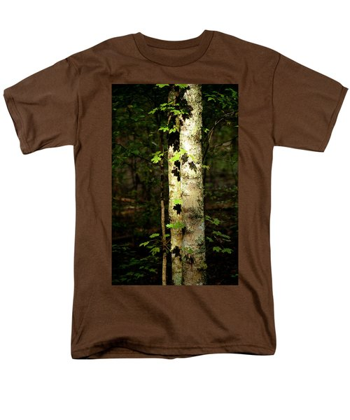Tree In The Woods Men's T-Shirt  (Regular Fit) by Pamela Critchlow