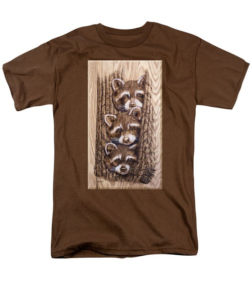 Men's T-Shirt  (Regular Fit) featuring the pyrography Tres Amegos by Ron Haist