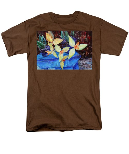 Men's T-Shirt  (Regular Fit) featuring the painting Triangular Blossom by Xueling Zou