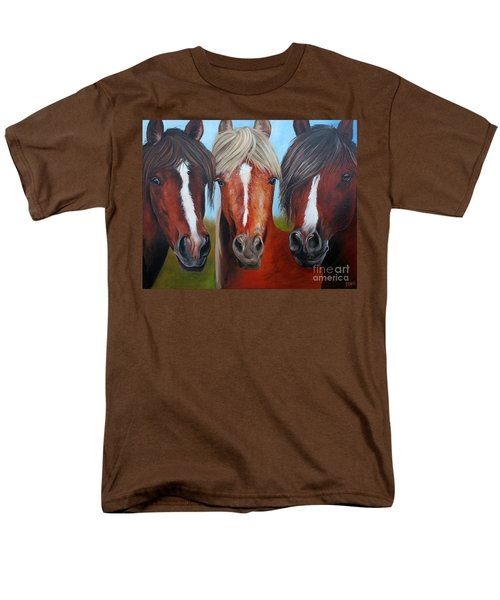 Men's T-Shirt  (Regular Fit) featuring the painting Trio by Debbie Hart