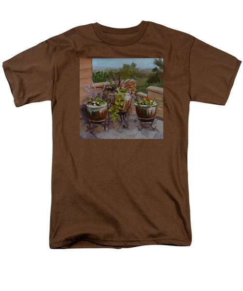 Men's T-Shirt  (Regular Fit) featuring the painting Trio by Pattie Wall