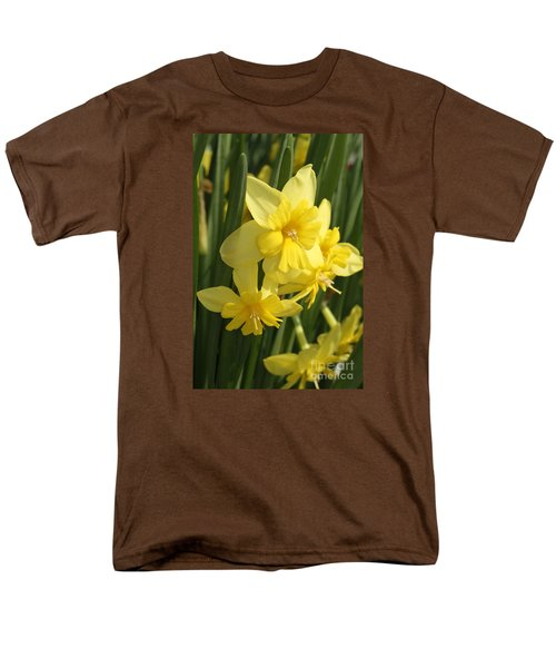 Tripartite Daffodil Men's T-Shirt  (Regular Fit) by Judy Whitton