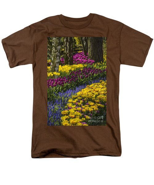 Tulip Beds Men's T-Shirt  (Regular Fit) by Sonya Lang