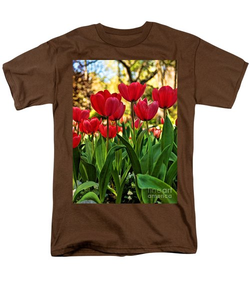 Men's T-Shirt  (Regular Fit) featuring the photograph Tulip Time by Peggy Hughes