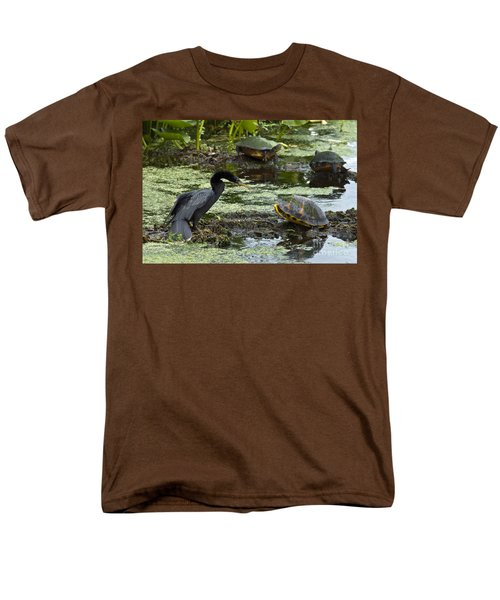 Turtles And Anhinga Men's T-Shirt  (Regular Fit) by Mark Newman