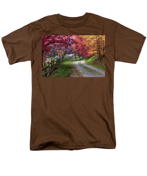 Twin Falls State Park Men's T-Shirt  (Regular Fit) by Mary Almond