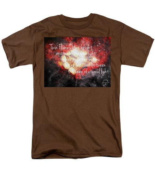 Twin Flames Men's T-Shirt  (Regular Fit) by Absinthe Art By Michelle LeAnn Scott