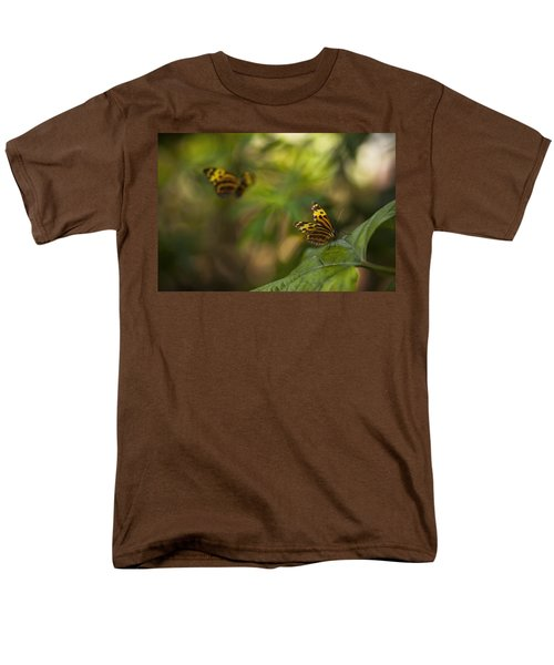 Two Butterflies Men's T-Shirt  (Regular Fit) by Bradley R Youngberg