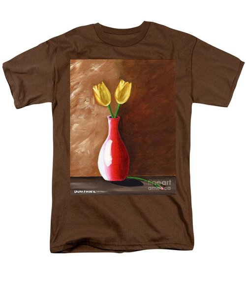 Two Tulips And A Pink Rose Men's T-Shirt  (Regular Fit)