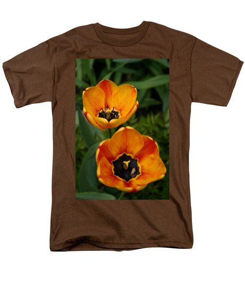 Two Tulips Men's T-Shirt  (Regular Fit) by Denyse Duhaime