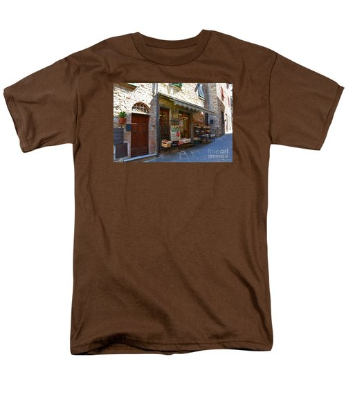 Men's T-Shirt  (Regular Fit) featuring the photograph Typical Small Shop In Tuscany by Ramona Matei