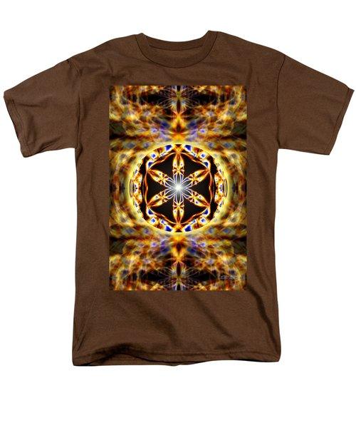 Men's T-Shirt  (Regular Fit) featuring the drawing Universal Heart Fire by Derek Gedney