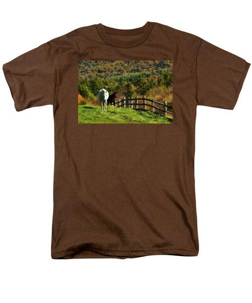 Men's T-Shirt  (Regular Fit) featuring the photograph Up The Hill by Joan Davis