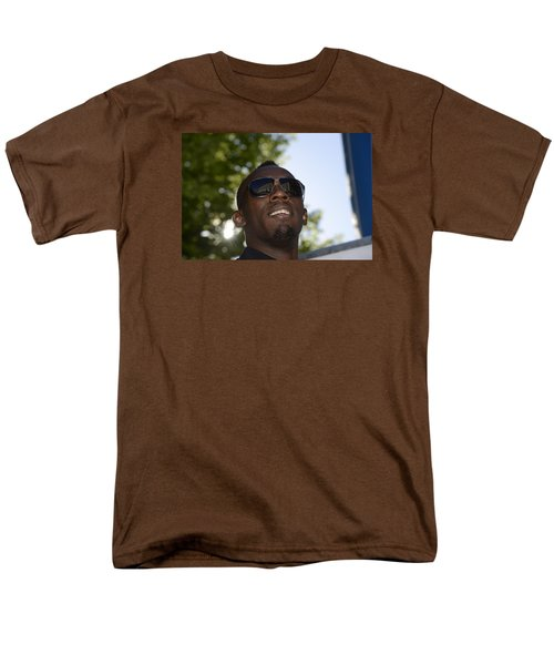 Men's T-Shirt  (Regular Fit) featuring the photograph Usain Bolt - The Legend 1 by Teo SITCHET-KANDA