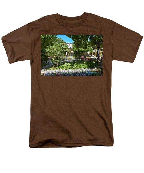 Men's T-Shirt  (Regular Fit) featuring the photograph Van Gogh - Courtyard In Arles by Allen Sheffield