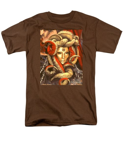 Men's T-Shirt  (Regular Fit) featuring the painting Venetian Mystery Mask by Michael Swanson