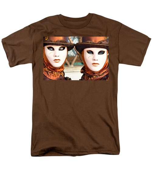 Venice Masks - Carnival. Men's T-Shirt  (Regular Fit) by Luciano Mortula
