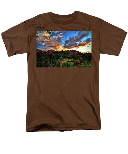 View From The Fence  Men's T-Shirt  (Regular Fit) by Saija  Lehtonen