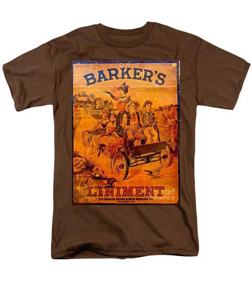 Vintage Ad Barker's Liniment Men's T-Shirt  (Regular Fit) by Saundra Myles