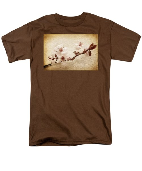 Vintage Blossoms Men's T-Shirt  (Regular Fit) by Caitlyn  Grasso