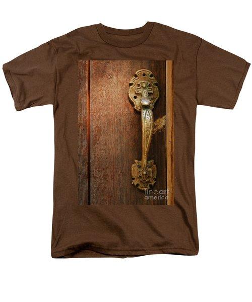 Men's T-Shirt  (Regular Fit) featuring the photograph Vintage Door Handle by Patrick Shupert