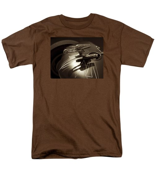 Vintage Hood Ornament - Sepia Art Decoprint Men's T-Shirt  (Regular Fit) by Jane Eleanor Nicholas