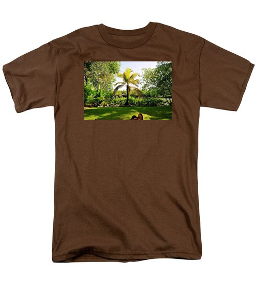 Men's T-Shirt  (Regular Fit) featuring the photograph Visiting A Mayan Trail by Kicking Bear  Productions
