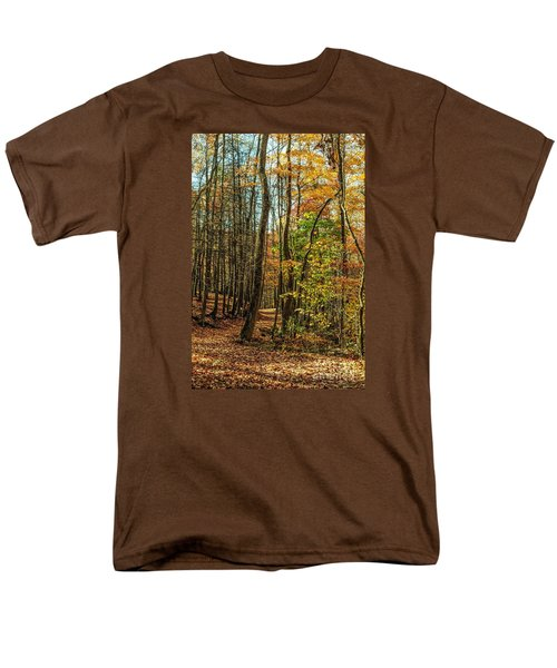 Men's T-Shirt  (Regular Fit) featuring the photograph Walking The Mountain Trail by Debbie Green