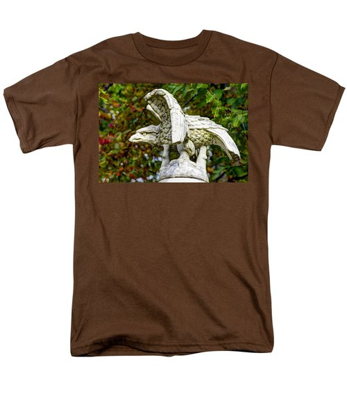 Men's T-Shirt  (Regular Fit) featuring the photograph War Eagles - Vermont Company F 1st U. S. Sharpshooters Pitzer Woods Gettysburg by Michael Mazaika