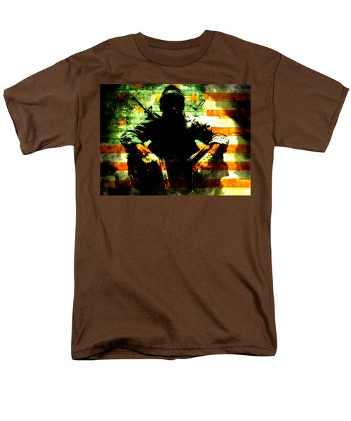 Men's T-Shirt  (Regular Fit) featuring the painting War Is Hell by Brian Reaves