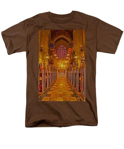 Washington Memorial Chapel Altar Men's T-Shirt  (Regular Fit) by Michael Porchik