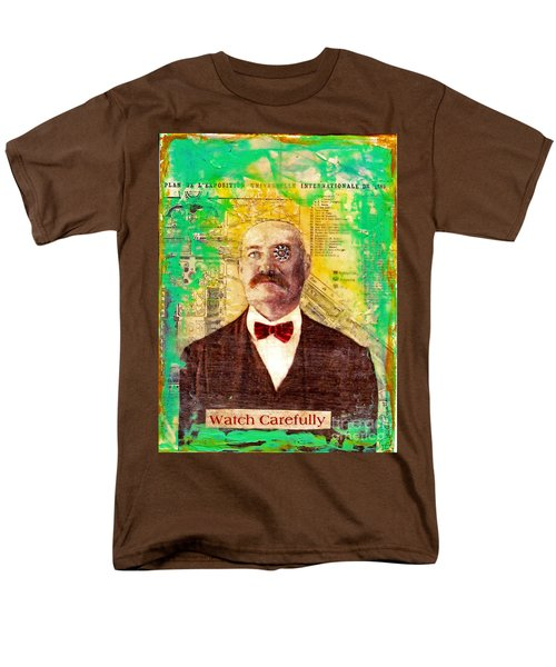 Men's T-Shirt  (Regular Fit) featuring the painting Watch Carefully by Desiree Paquette