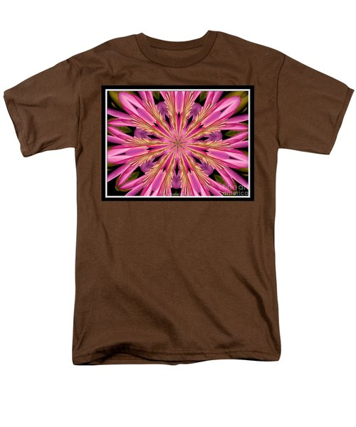 Men's T-Shirt  (Regular Fit) featuring the photograph Waterlily Flower Kaleidoscope 4 by Rose Santuci-Sofranko