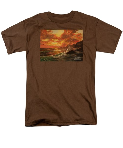 Men's T-Shirt  (Regular Fit) featuring the painting Wave Crash by Vanessa Palomino