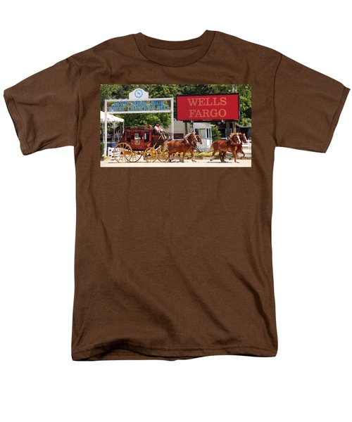 Men's T-Shirt  (Regular Fit) featuring the photograph Wells Fargo At Devon by Alice Gipson