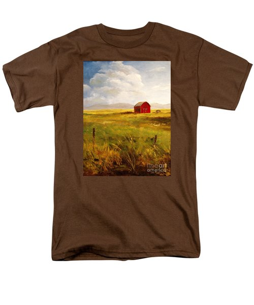 Western Barn Men's T-Shirt  (Regular Fit)